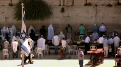 Jewish Prayers at the Western Wall 6 Stock Footage