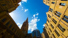 Time Lapse Saint Pauls Cathedral Melbourne Stock Footage