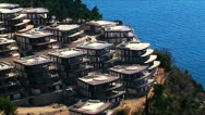 Complex of luxury villas on the cape Zavala, Budva, Montenegro Stock Footage