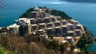 Complex of luxury villas on the cape Zavala, Budva, Montenegro Stock Footage