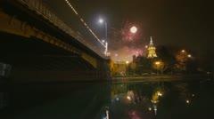 Timisoara fireworks 2 Stock Footage