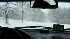 Winter on the road 4 - stock footage