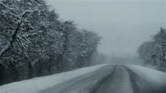 Winter on the road 8 Stock Footage