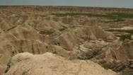 Stock Video Footage of Badlands EW Pan