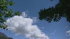 Long white cloud above Lake St. Moritz Stock Footage
