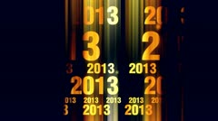 New year 2013 text animation 2 - stock footage
