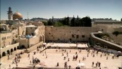 Panoramic View of the Western Wall - Jerusalem Stock Footage