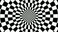 Checkboard hypnotize Stock Footage