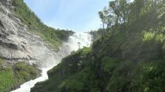 Norway Kjosfossen waterfall s Stock Footage