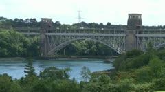 Robert Stephenson Britannia Bridge Stock Footage