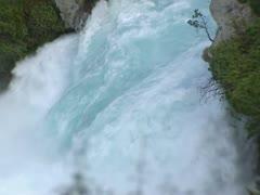 Huka Falls -  waterfall close up Stock Footage