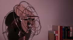 Antique fan being turned on and then off Stock Footage
