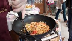 Serving Chinese pasta 2 Stock Footage