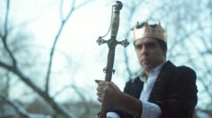 King excalibur prince knight royal Stock Footage