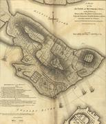 Map of the battle of bunker hill, .. Stock Photos