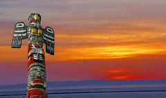 Thunderbird totem pole.. Stock Photos