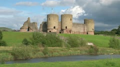 Rhuddlan Castle Stock Footage