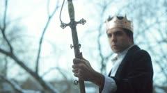 Kuningas miekka Excalibur Arkistovideo