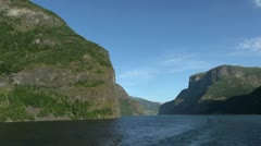 Norway mountains frame Sognefjord s1 Stock Footage