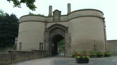 Nottingham Castle Entrance Stock Footage