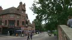 Nottingham Old Town Stock Footage