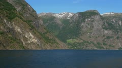 Norway A bird above Sognefjord 2s Stock Footage