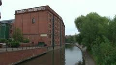 British Waterways Warehouse Stock Footage