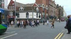 Busy Crosswalk Stock Footage