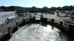 Marthas Vineyard Ferry Timelapse Stock Footage