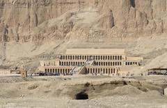 mortuary temple of hatshepsut in egypt - stock photo