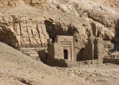 rock cut tomb near mortuary temple of hatshepsut - stock photo