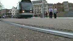 Light Rail Tramway Stock Footage