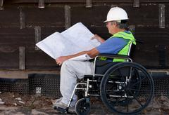 Handicapped contractor Stock Photos