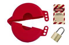 valve wheel lockout device - stock photo