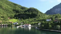 Norway Flam head of fjord c Stock Footage