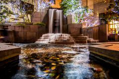 Waterfall in downtown charlotte Stock Photos