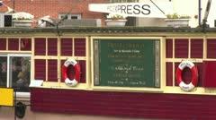 Floating Pub Barge Stock Footage