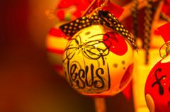 faith christmas decorations - stock photo