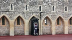 Guardsman of the Windsor Castle, England Stock Footage