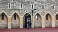 Stock Video Footage of Guardsman of the Windsor Castle, England