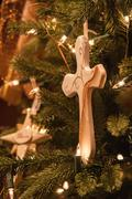 faith christmas tree decorations - stock photo