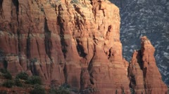 Stock Video Footage of Sedona winter red rock layers