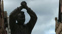 Brian Clough Statue Stock Footage