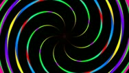 Stock Video Footage of rotating twirl color