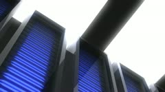 Server computers computer lab Stock Footage