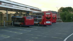 Bus Station Interchange Stock Footage