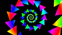 Triangle spiral colorfull Stock Footage