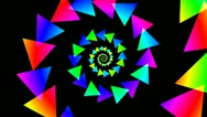 Stock Video Footage of triangle spiral colorfull