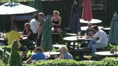 Pub Beer Garden Stock Footage