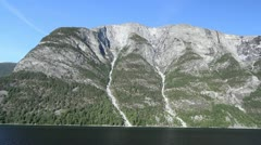 Norway water courses on a mountain above Sognefjord c Stock Footage